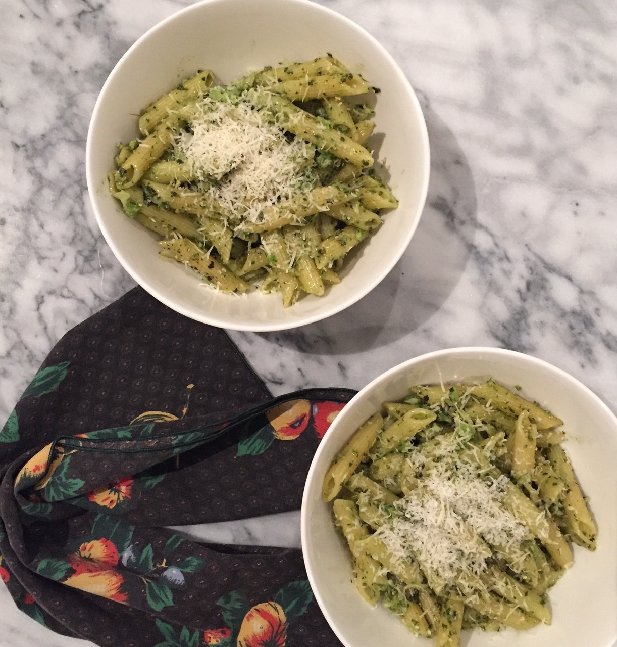 Broccol pesto with penne