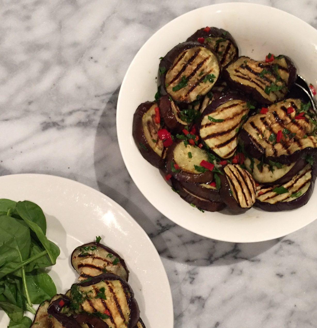 Italian style eggplant salad